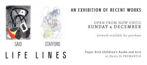 LIFE LINES exhibition, Liliana Stafford and Rita Said