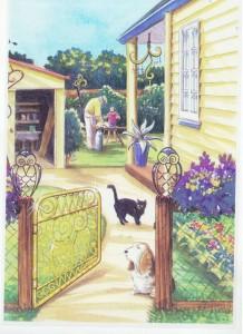Grandpas Gate artwork 2 by Liliana Stafford