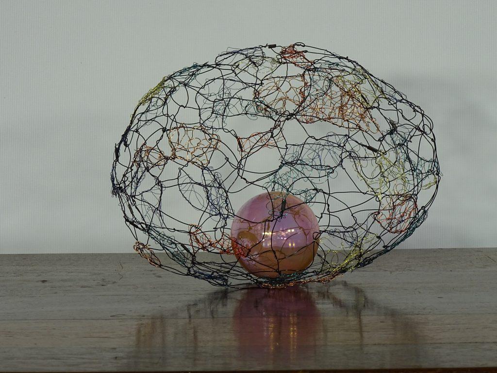 Egg wire sculpture, art for sale in Perth | Liliana Stafford