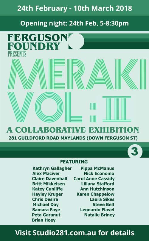 Meraki Vol 3 exhibition