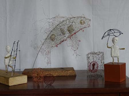 Wire work sculptures Liliana Stafford