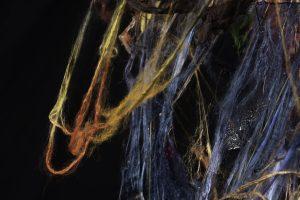 close up silk hanging