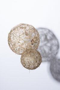 silk,paper and wire balls