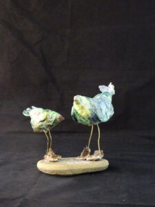 birds-tissue paper and wire- sold