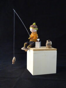 Gone fishing small scupture