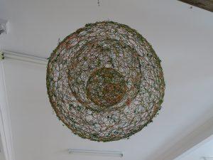 Raindrops wire work sculpture